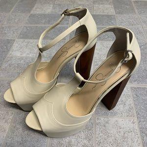 New Jessica Simpson Dany Off-White Platform Heels